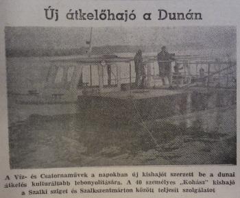1960. december 9-én új átkelőhajó indult Sztálinvárosban