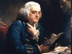 1706. január 17-én született Benjamin Franklin