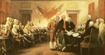 1776. július 4-én írták alá a Függetlenségi Nyilatkozatot